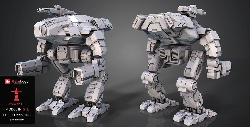 fanart battletech marauder 3d