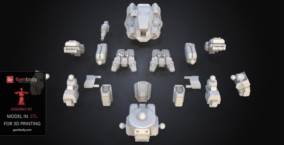 3d printed fanart battletech