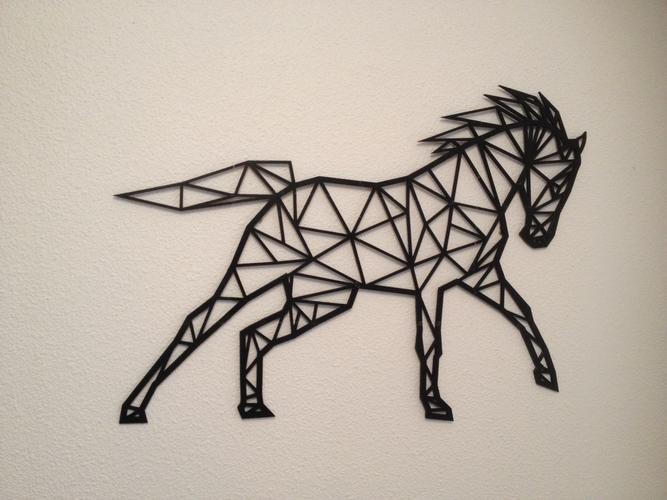 d printed horse line art wall art by flowtero pinshape