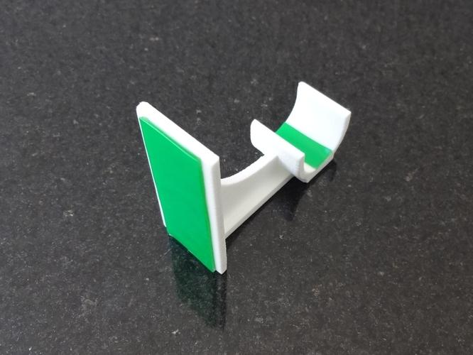 adhesive curtain rod holder