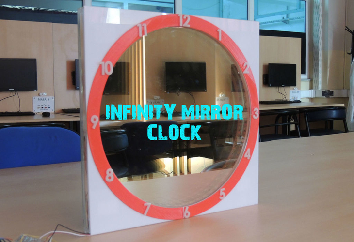 infinity mirror clock updated