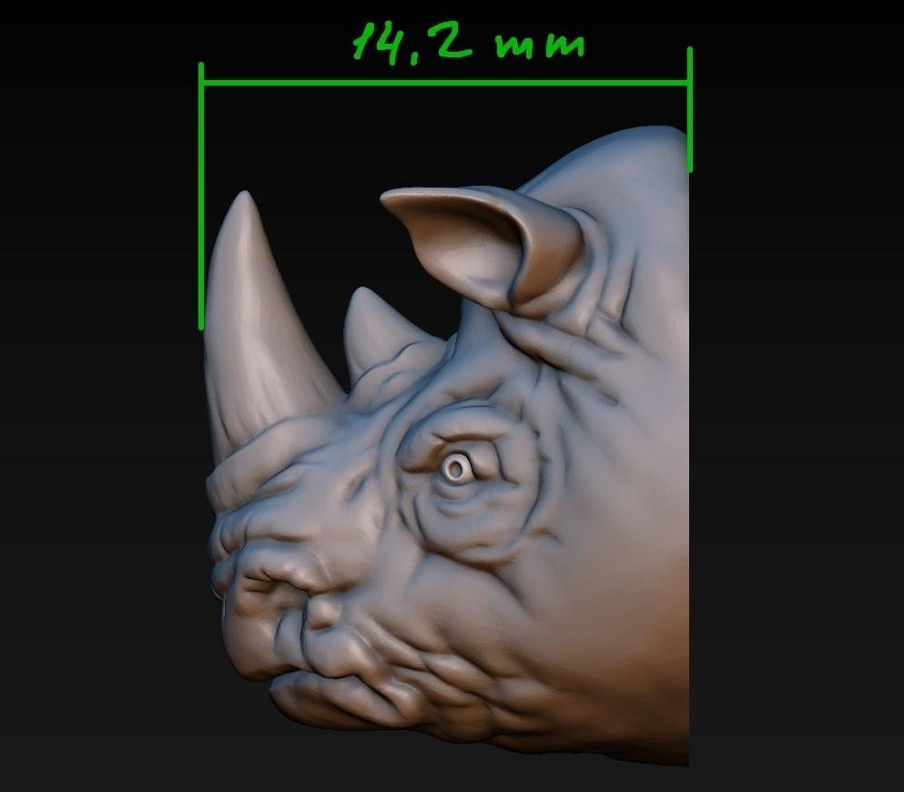 rhino head pinshape