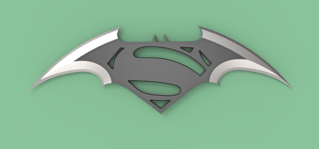 batarang logo batman vs