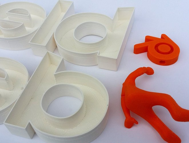 3d printed big letters