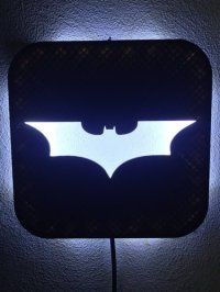 3D Printed Wall Lamp (LED): Batman by Zero3DDesign