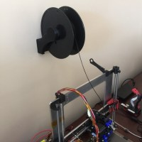 3D Printed Spool Holder - Wall Mount (Optimized for ...