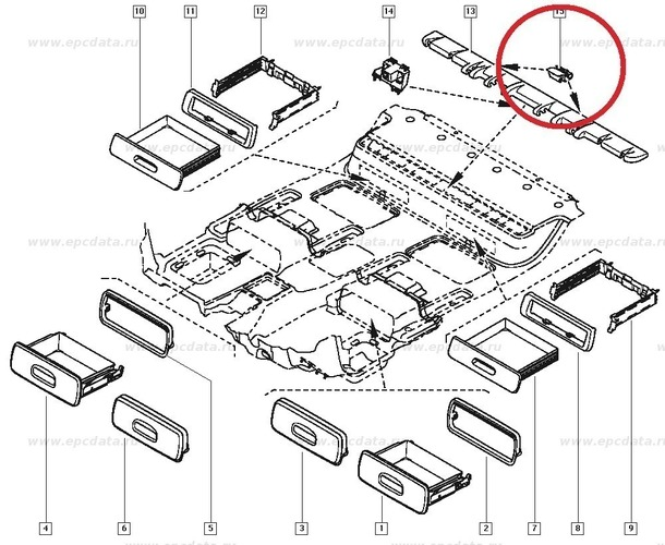 3D Printed Renault Scenic II 8200407716 FLOOR CLIP by