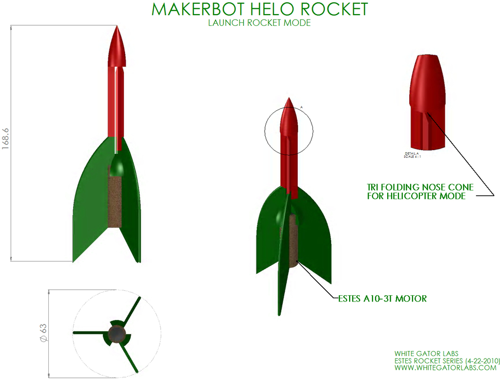 hight resolution of 3d printed helo model rocket launch pad estes style by 2robotguy pinshape