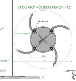 3d printed helo model rocket launch pad estes style by 2robotguy pinshape [ 1024 x 768 Pixel ]
