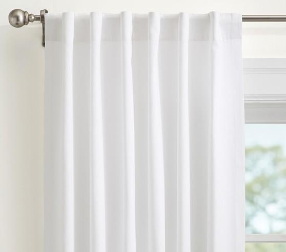 quincy cotton canvas blackout curtain panel