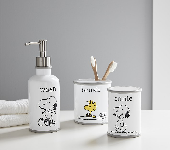 Snoopy Bathroom Accessories Set Pottery Barn Kids