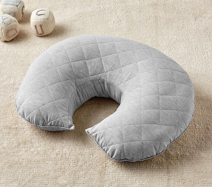 gray belgian linen boppy bare naked nursing pillow cover