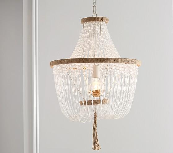 rissa crystal beaded chandelier