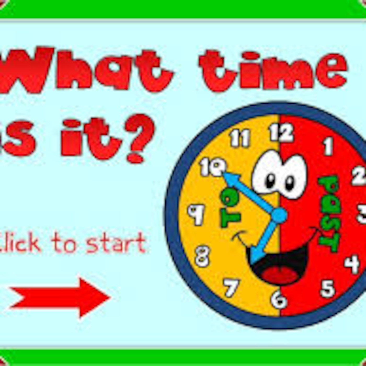 Telling The Time Esl Game