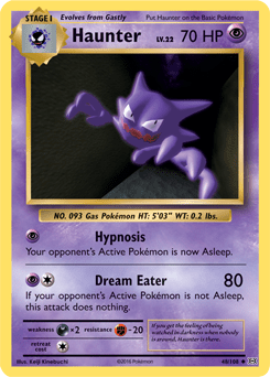 haunter xy evolutions tcg