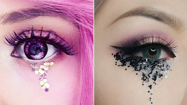 Image result for glitter tears
