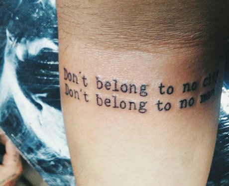 Fall Out Boy Song Lyrics Wallpaper 21 Stunning Lyric Tattoos Will Have You Running To The