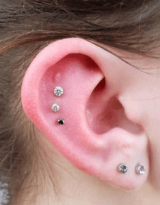 The scapha and  double lobe piercing also unique ear combos that you  ll definitely want to get rh popbuzz