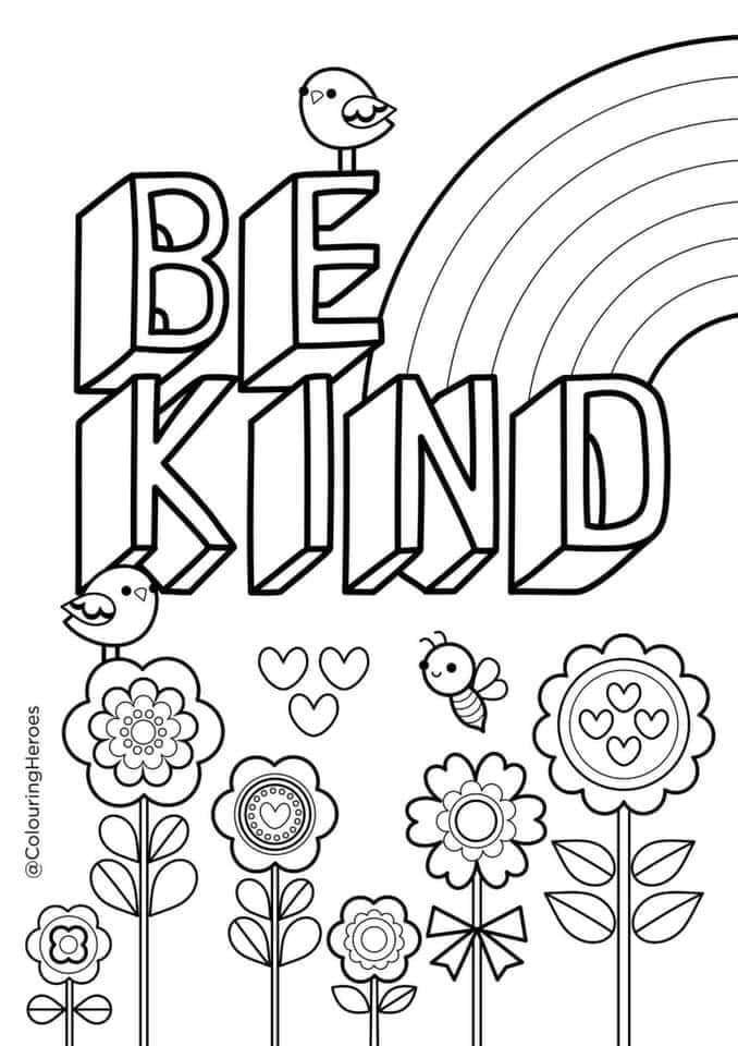 Colouring sheets for Mental Health Awareness Week on the