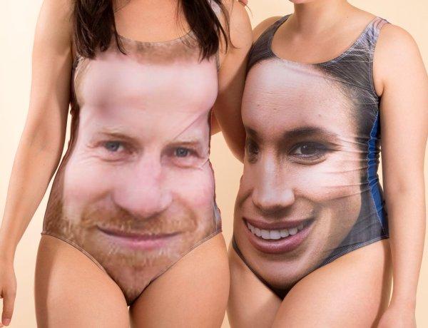 Mariage du prince Harry et de Meghan Markle : Découvrez l'improbable maillot de bain à l'effigie des futurs mariés !