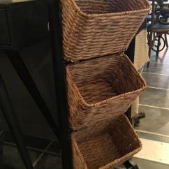 Kitchen Basket Storage Arts And Crafts Cabinets 3 Tier Wicker Magazine Rack | Mulberry Moon