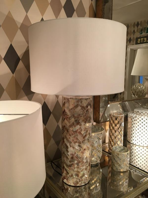 Tall Mother Of Pearl Shell Table Lamp Mulberry Moon