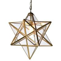 Gold & Glass Star Pendant Light | Mulberry Moon
