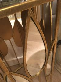 Set of 2 Teardrop Gold Mirror Side Tables | Mulberry Moon