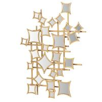 Gold Metal Squares Abstract Wall Art Mirror | Mulberry Moon