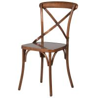 Distressed Copper Cross Back Dining Chair | Mulberry Moon