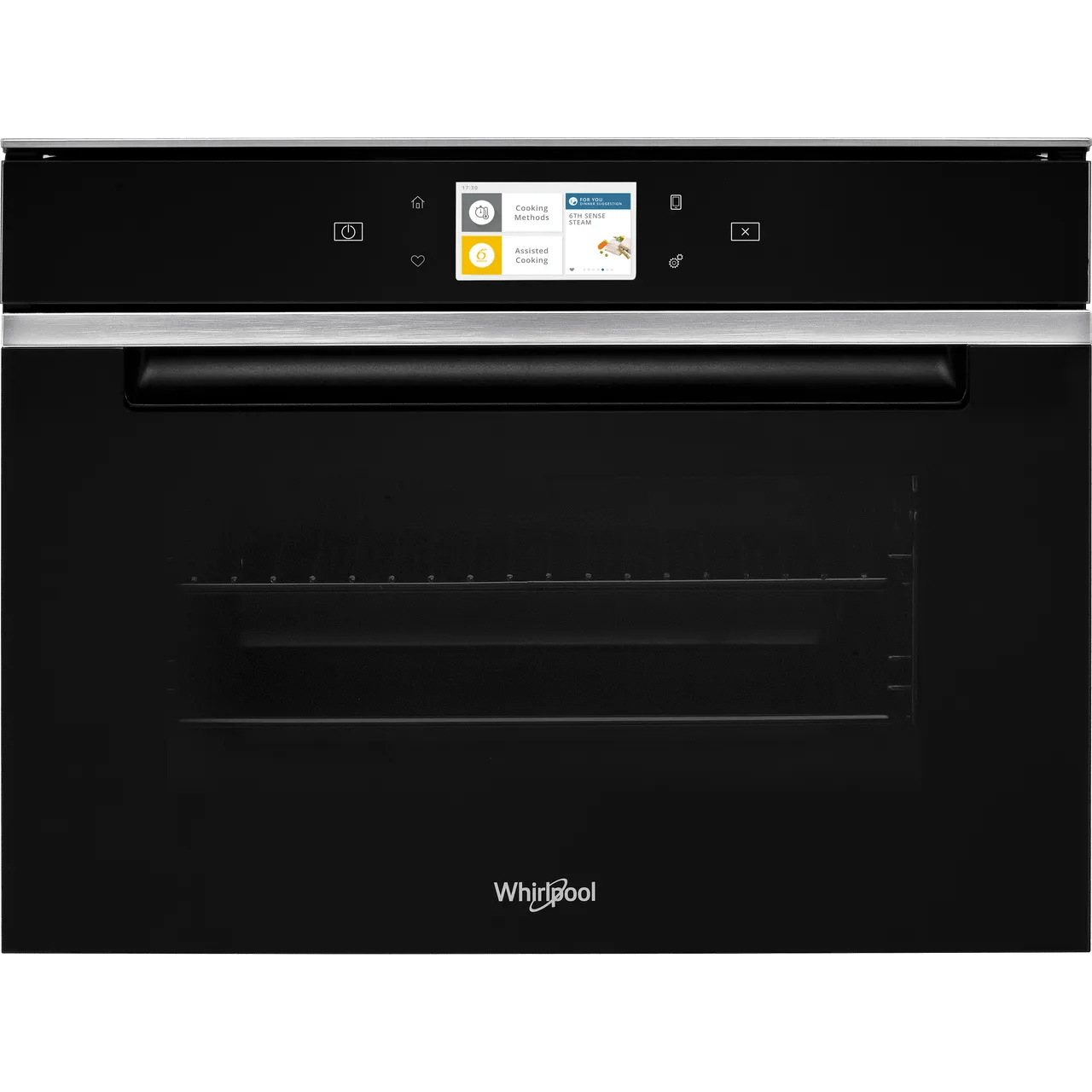 whirlpool w collection w11ims180uk built in steam oven black