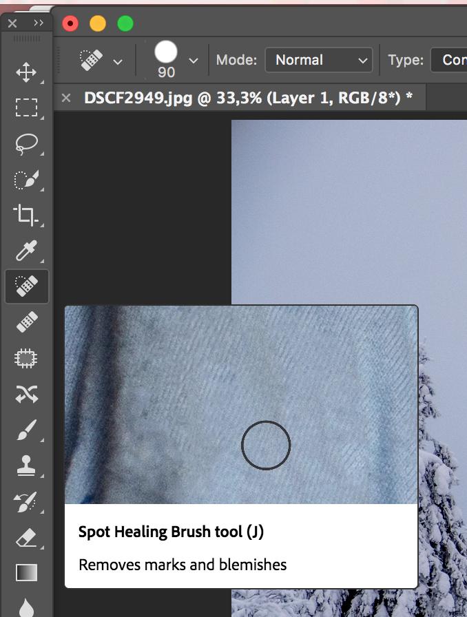 Бобра, убрать надпись на картинке онлайн фотошоп