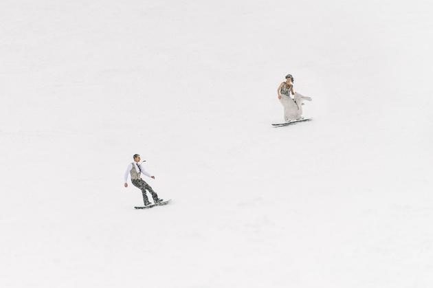 Как снимать свадьбу зимой