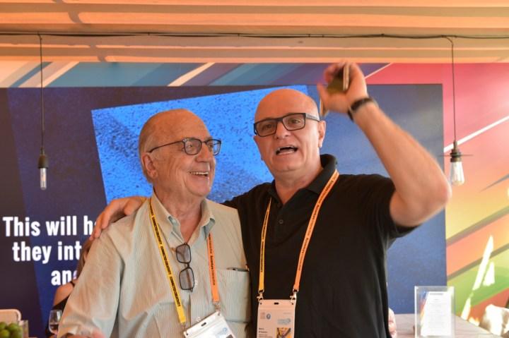 Armando Ferrentini (Editora Referência), e Mário D'Andrea (Dentsu)