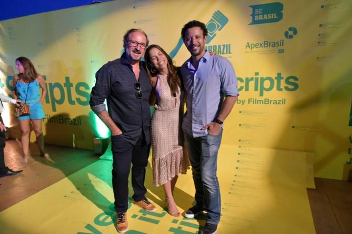 Paulo Schimdt e Marianna Souza recepcionam José Papa, do Cannes Lions