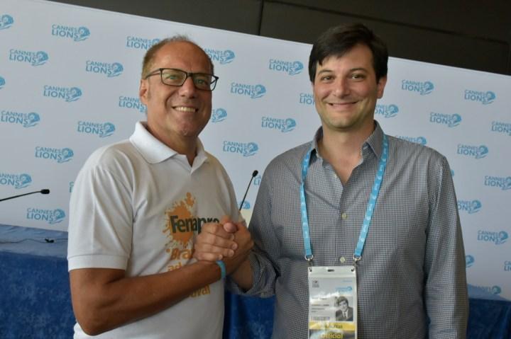 Alexis Pagliarini (Fenapro), Jose Papa (Cannes Lions)