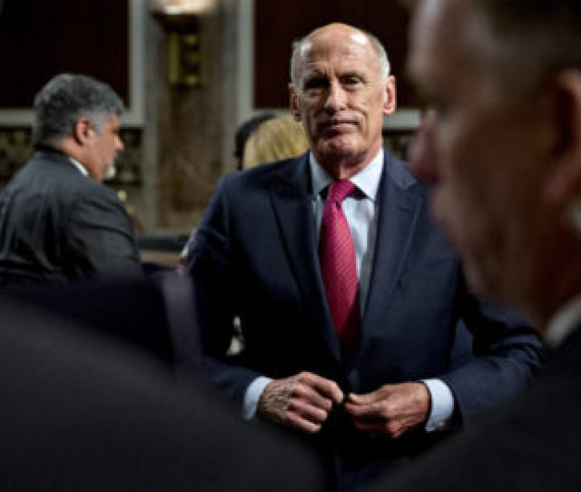 Dan Coats Director Of National Intelligence Buttons His Jacket After A Senate Armed Services Committee Hearing In Washington D C On May