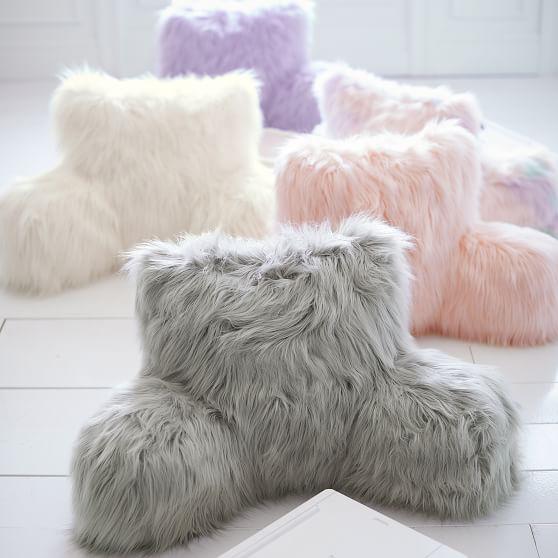 himalayan faux fur lounge around pillow cover