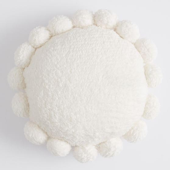 cozy pom recycled sherpa pillow