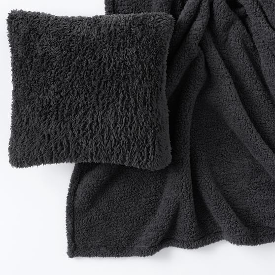 recycled cozy sherpa bed blanket pillow gift set