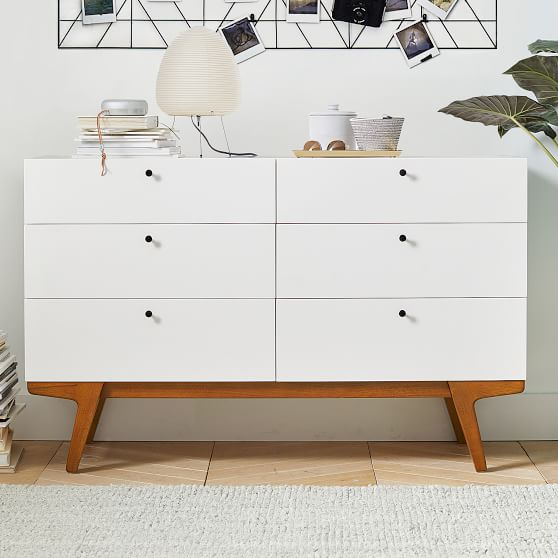 west elm x pbt modern 6 drawer dresser