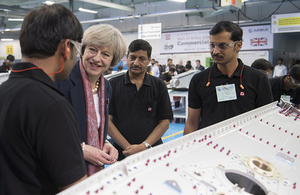 Prime Minister Theresa May visits Dynamatic Technologies in Bangalore