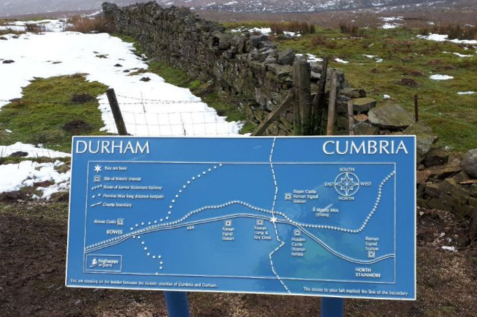 New information board chronicling the history of the border area
