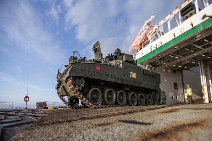 UK Vehicles arrive in Estonia