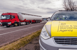 DVSA enforcement officer at the roadside