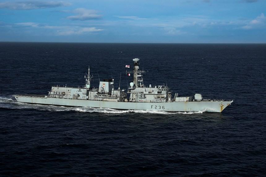 The Type 23 frigate HMS Montrose. Crown copyright.