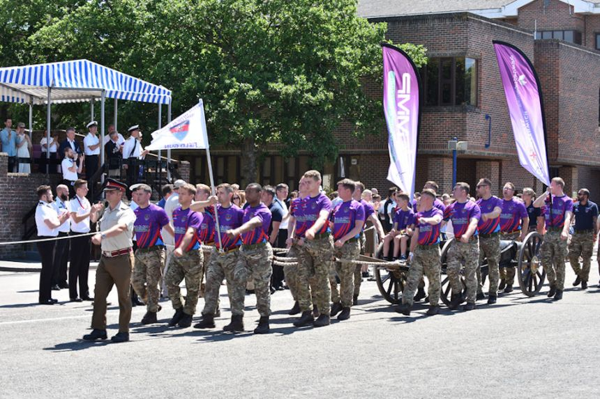 Defence Medical Services Field Gun Crew parading after finishing 10th out of 23 crews. Photo: Crown copyright.