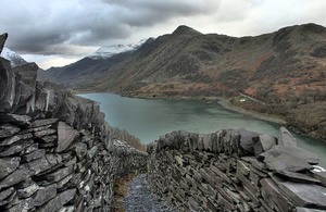 slate landscape of north west wales