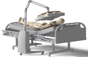 3D mobile x-ray at bedside of fake patient