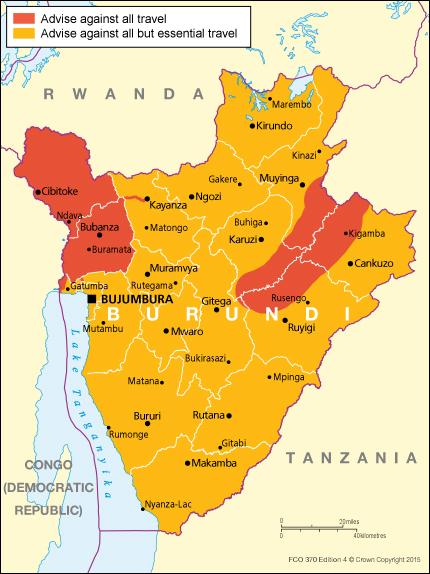 Burundi travel advice GOVUK